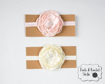 newborn headband, newborn flower headband, newborn flower, baby girl headband, newborn photo prop, newborn headband prop