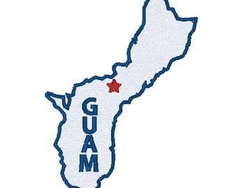 Guam Map Etsy - Map of guam