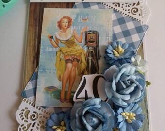 Zum 40. Oder 18 Geburtstag, Geburtstagkarte, Birthday Für Männer