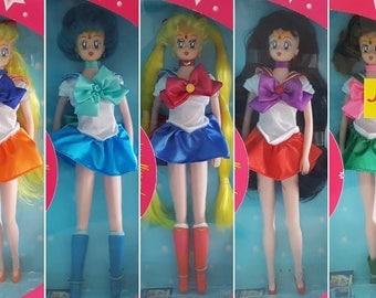 Complete Set of Sailor Moon Figure Dolls - Moon Mercury Mars Jupiter Venus Tuxedo Mask Queen Beryl -  Anime Manga German Igel Collection