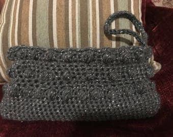 Crocheted Clutch Evening Purse