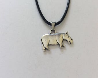 Hippo necklace / hippo jewellery / animal necklace / animal jewellery / animal lover gift