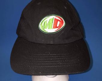 Vintage Mountain Dew strap back hat adjustable logo Atlethic