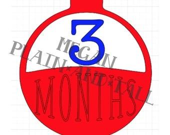 Month Banner Bobber Cut File Download