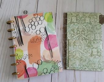 Happy Planner Mini  folder - fold out 3 pockets - Distress
