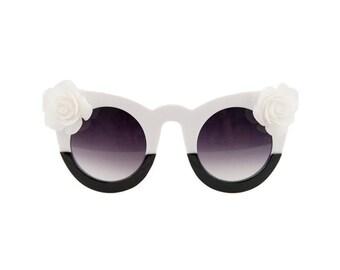 Kitty Black & White sunglasses