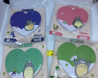 One packet of 100 Sticky Notes Totoro Perfect for planners or journals Kawaii Japan San-X Post-it