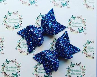 Blue Hearts Bows