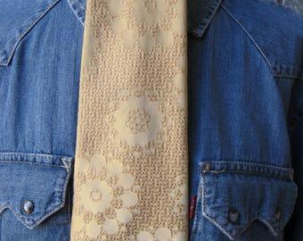 Hipster Holiday Necktie. Gold Brocade. Ohrbachs Men's shop