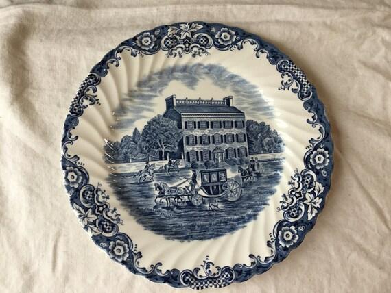 Vintage Heritage Hall / Blue Ironstone Transferware Dinner