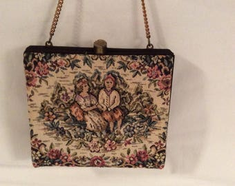 Antique Hand Embroidered Tapestry bag