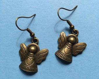 Christmas Angel earrings in bronze