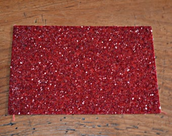 Red glittery grained fabric coupon (8994611)