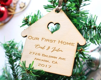 Our First Home Christmas Ornament, Our First Home Custom, Our First Home Ornament, New Home Christmas Ornament, New Home Ornament