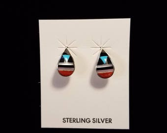 Teardrop Stud Earrings by Bernadette Boone