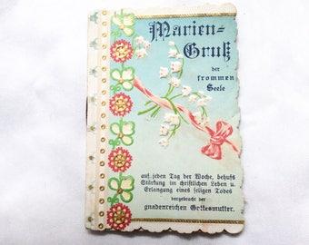 Victorian Religious Card, Holy Cards Catholic, Vintage Prayer Calendar, Antique Cards, Religious Cards, Catholic Prayer Card, Antique Prints