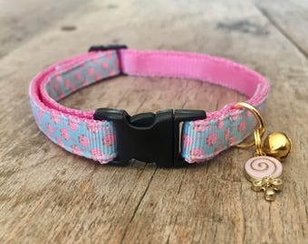 Lollipop cat collar - cute for summer