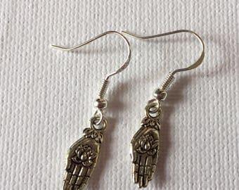 Pair of fancy flowers handmade earring