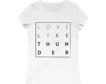 Love Like Thunder Square Jane And Thunder  WomenS Stella Wants Organic Round Neck TShirt