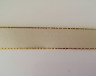 Polyester with liseraie Golden beige satin ribbon