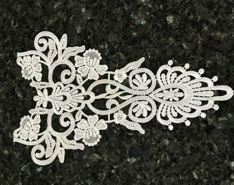 Applique sewing 34 * 20 very pretty lace