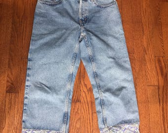 Vintage Boyfriend Patterned Jeans