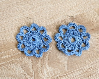 infinitely crochet earrings