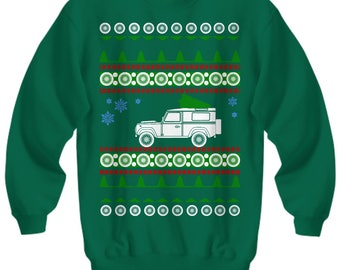 Land Rover Defender 90 Ugly Christmas Sweater  Sweatshirt Land offroad adventure holidays overlanding camping woods