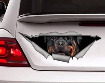 DECAL. Rottweiler car decal, Vinyl decal, car decoration, pet decal, rottweiler sticker, dog decal