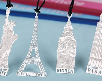 Bookmark in silver metal Big Ben London 7,6 cm