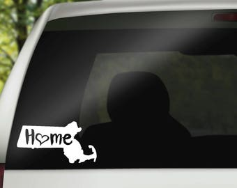 Massachusetts Decal, State Decal, Home Decal, State Car Decal, Laptop Decal, Tumbler Decal, Home Car Decal, Vinyl Decal, Water Bottle Decal