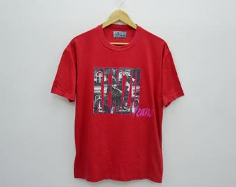KENZO Jeans Shirt Vintage 90's Kenzo Jeans Made In Japan Red Tee T Shirt Size F
