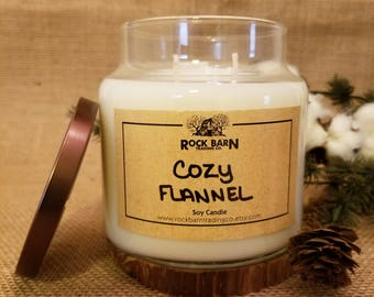 Cozy Flannel 16 oz. Soy Candle