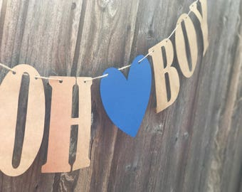 Boy oh Boy Baby shower banner!