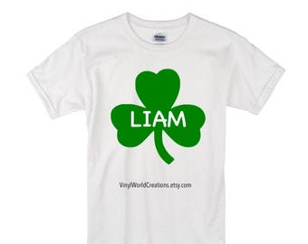 St Patricks Day Shirt for Boys/ St Pattys day shirt/ shamrock shirt for boys/ kids st patricks day shirt/ irish shamrock shirt for boys