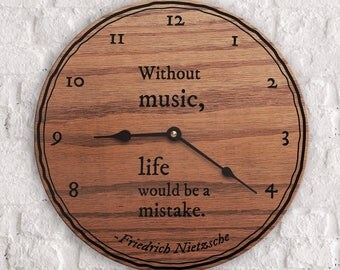 Famous Quotes About Music - Without Music, Life Would Be A Mistake Quote - Gift for Musicians - Friedrich Nietzsche Quote