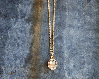 Floretta Necklace { Handcrafted sparkly Swarovski Crystal Necklace on petite gold chain }