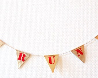 Personalized leather flags Garland