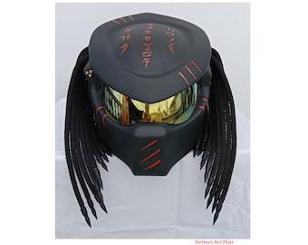 Predator helmet,Custom helmet,Handmade helmet,Airbrushed helmet,Painted helmet,Motorcycle helmet,Casque helmet