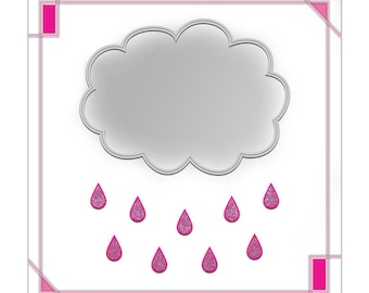 Display decor 20 X 20 personalized pink and grey clouds