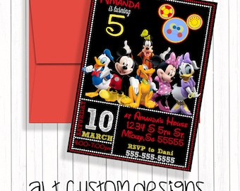 Mickey Mouse Birthday Invitation - Mickey Mouse Clubhouse Birthday Invitation - Mickey Mouse Invitation - Mickey Mouse Birthday