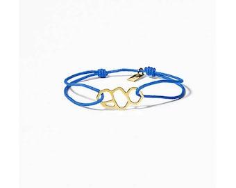 Marseille/Mucem blue link gold filled bracelet