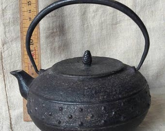 Tetsubin. Vintage Japanese iron tea-kettle