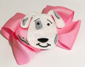 Pink Puppy Hair Bow