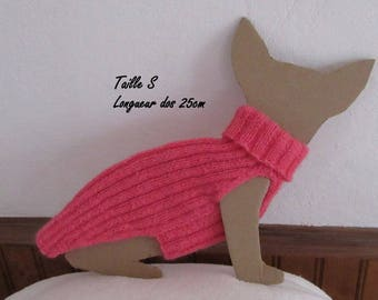 Pink chihuahua or sphynx baby sweater