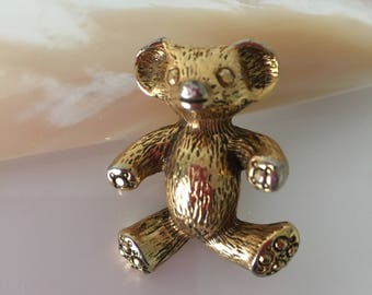 Vintage brooch Bear 70's , 1970's, art deco