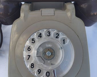 Grey vintage telephone