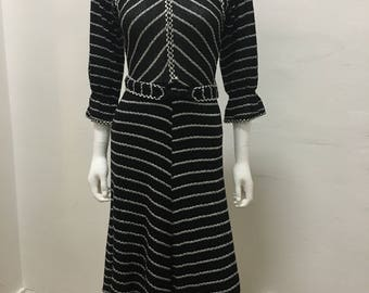 70's vintage knit dress (made in italy) size 10