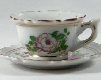 Vintage Miniature Tea Cup Set - Made in Japan