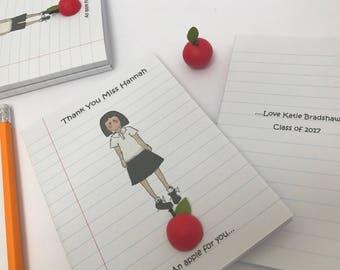 Personalised notebook for teacher. Teachers gift. Thank you gift for teacher. Teachers present. Best Teacher